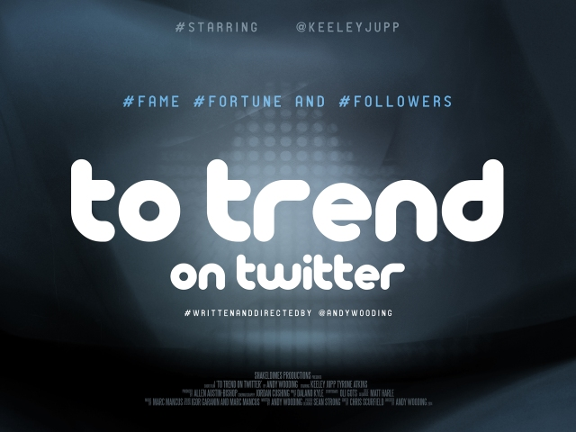 To Trend on Twitter poster - andy wooding
