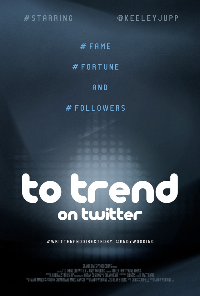 TO TREND ON TWITTER - Andy Wooding - poster